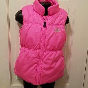 Toddler Girls Fleece lined Pink Puffer Vest 4T